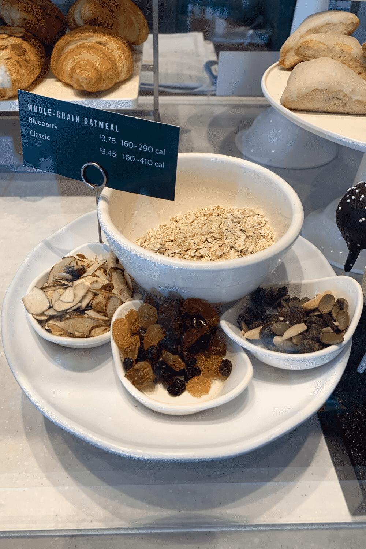 Starbucks vegan whole grain oatmeal options